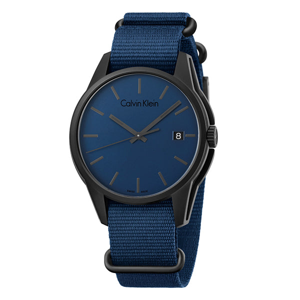 Tone Blue Canvas Strap Men's Watch