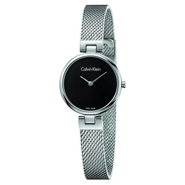 Black Dial Stainless Steel Strap Ladies' Watch