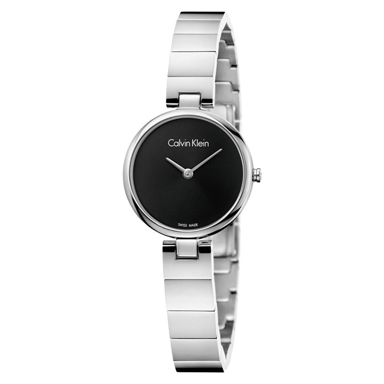 Black Dial Rose Stainless Steel Ladies' Watch