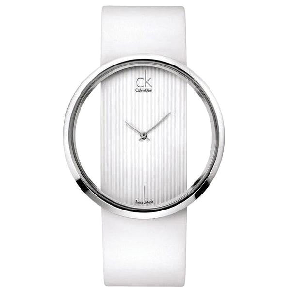 Glam White Leather Ladies' Watch