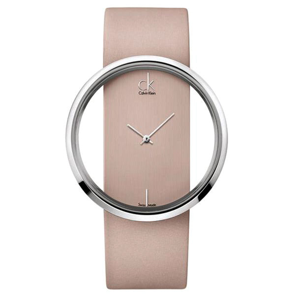 Glam Gold Pink Leather Ladies' Watch