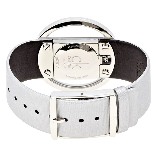 Glam Gray Leather Ladies' Watch