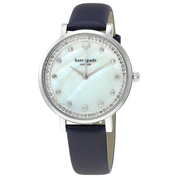 Monterey Mother of Pearl Dial Navy Leather Watch