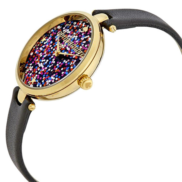 Holland Multi-color Glitter Dial Ladies Leather Watch