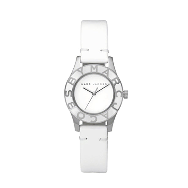 Blade White Leather Ladies' Watch