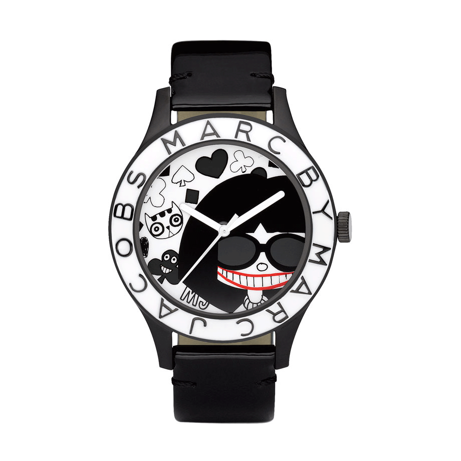 Black Leather Miss Marc Ladies' Watch