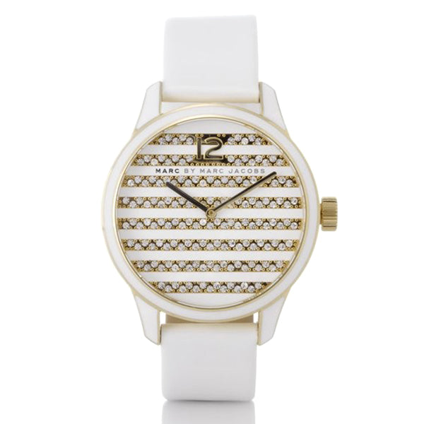Lidia Stripe Glitz Dial Ladies' Watch