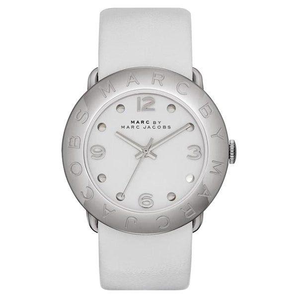 Amy White Leather Ladies Watch