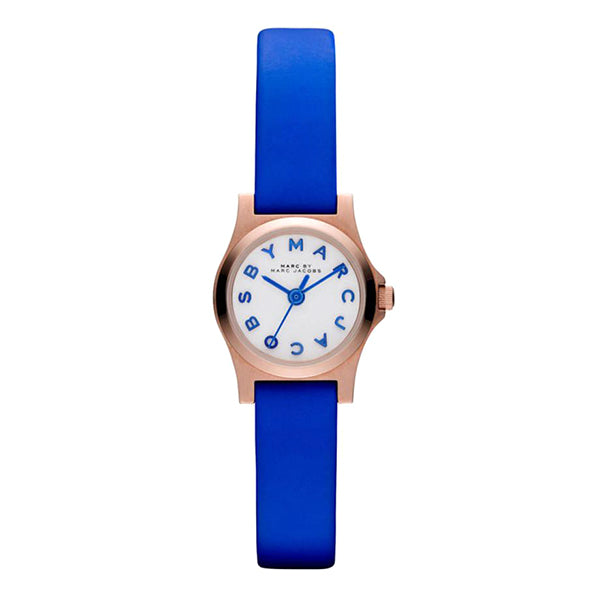 Henry Dinky Blue Leather Ladies' Watch