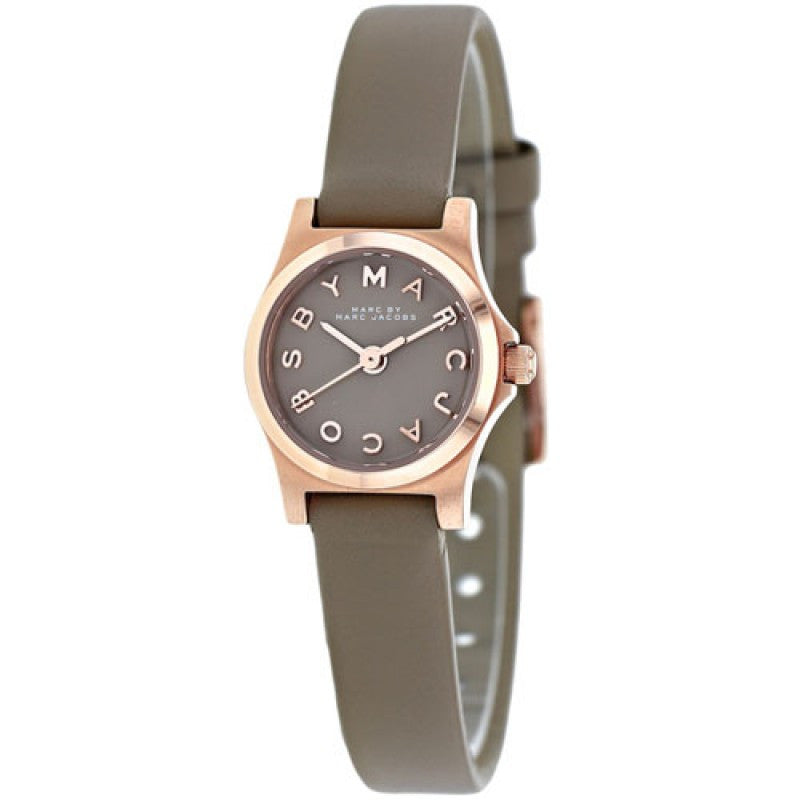 Henry Dinky Grey Leather Ladies' Watch