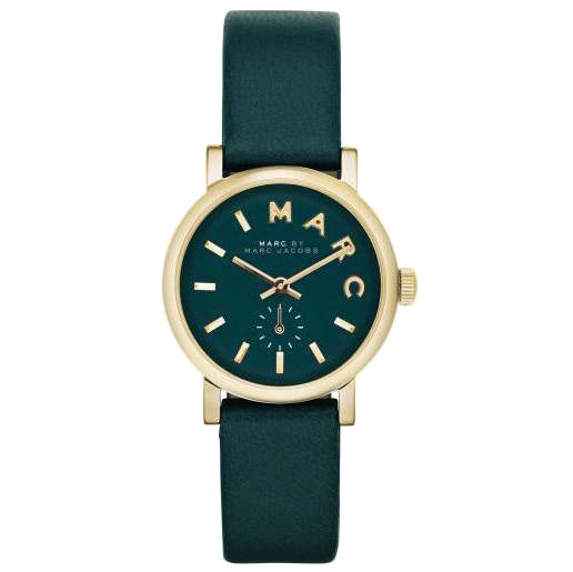 Baker Mini Green Gold Case Ladies Watch