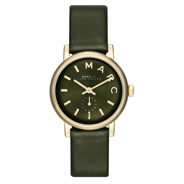 Baker Mini Olive Dial Olive Leather Ladies Watch