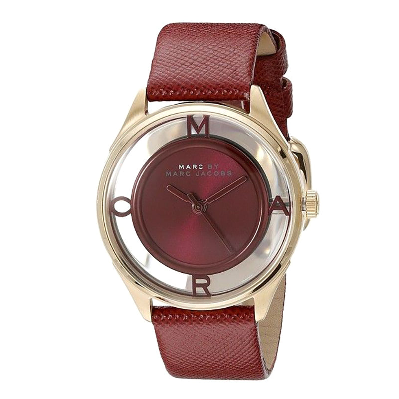 Marc By Marc Jacobs Tether Red Dial Leather Ladies Watch
