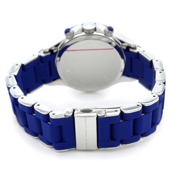Rock Blue-Tone Stainless Steel Blue Dial Unisex Watch