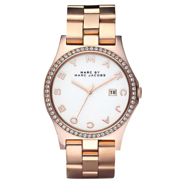 Henry Rose Gold Tone Stainless Steel White Dial Ladies' Watch