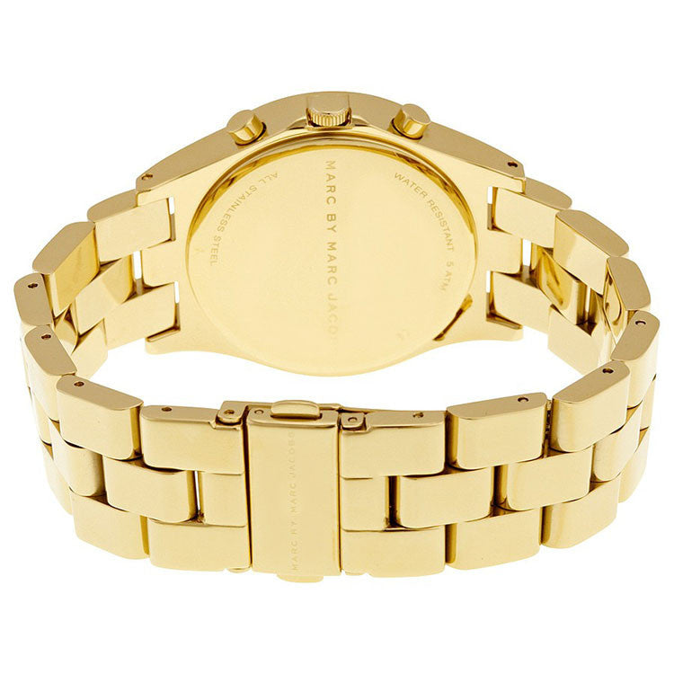 Henry Chronograph Gold Dial Gold-plated Ladies Watch