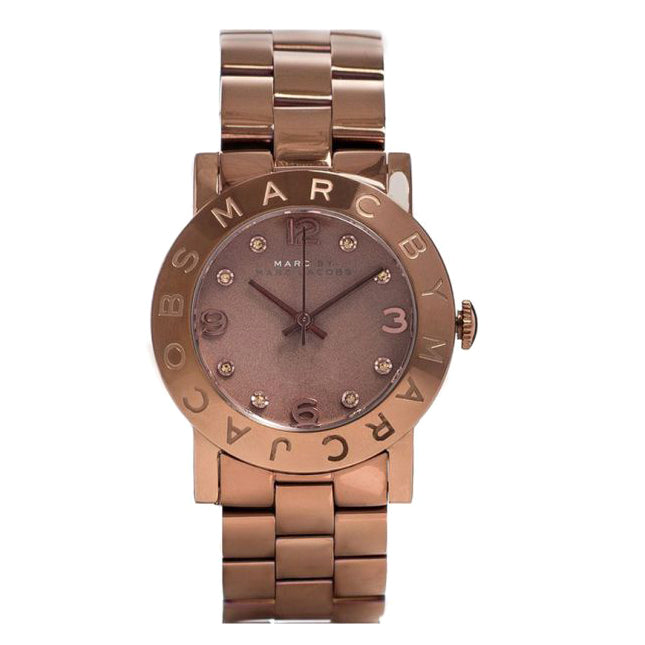 Amy Brown Dial Brown-Tone Stainless Steel Ladies Watch