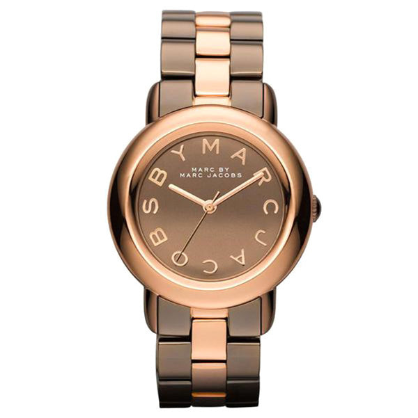 Mini Marci Brown Dial Two-tone Bracelet Ladies Watch
