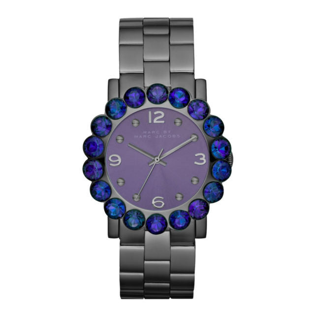 Amy Scallop Glitz Gunmetal Stainless Steel Bracelet Ladies Watch