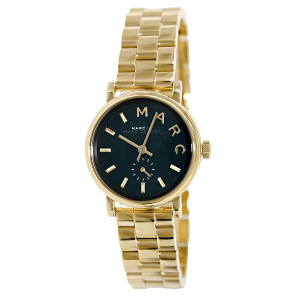 Baker Dark Green Dial Gold-Tone Stainless Steel Ladies Watch