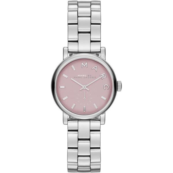 Baker Mini Pink Dial Stainless Steel Ladies Watch