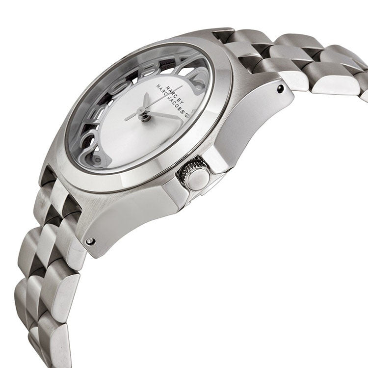 Henry Steel Silver Dial Stainless Steel Ladies Watch