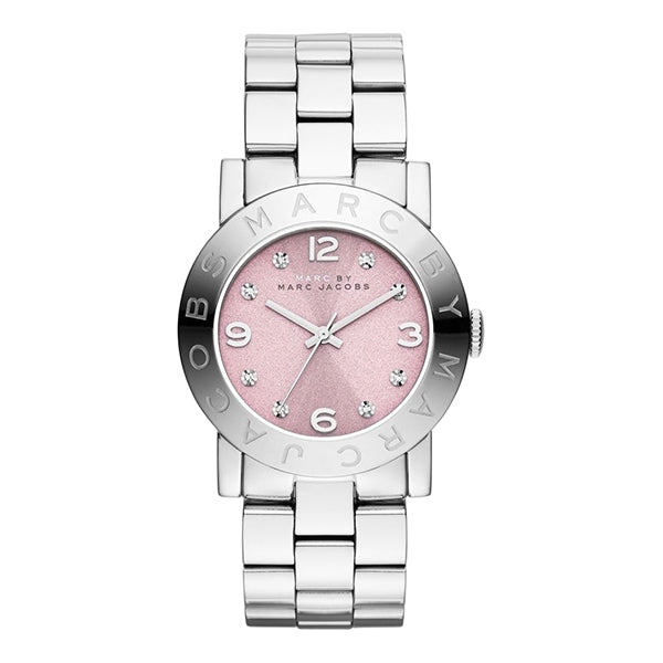 Amy Pink Dial Stainless Steel Ladies Watch