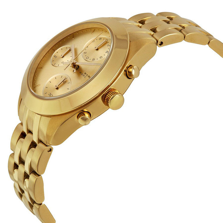 Peeker Chronograph Gold Dial Gold-tone Ladies Watch