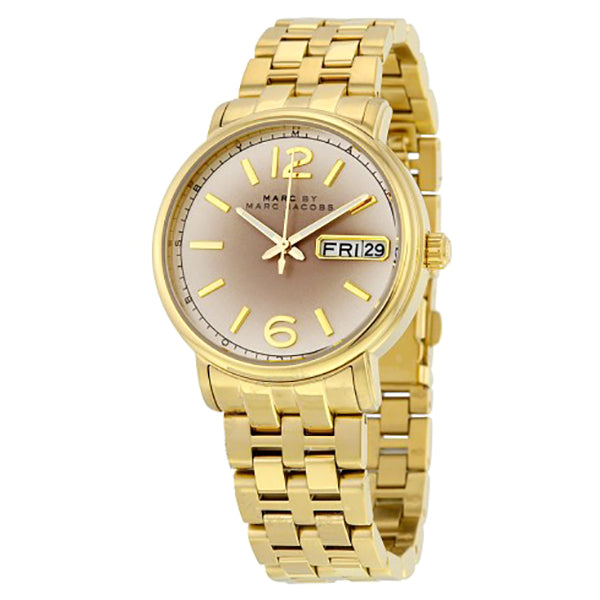Ferus Gunmetal Gray Dial Gold Stainless Steel Ladies Watch