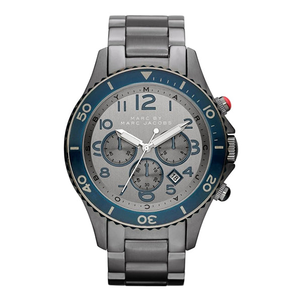 Rock Black Ion-Plated Stainless Steel Gray Dial Chronograph Men's Watch