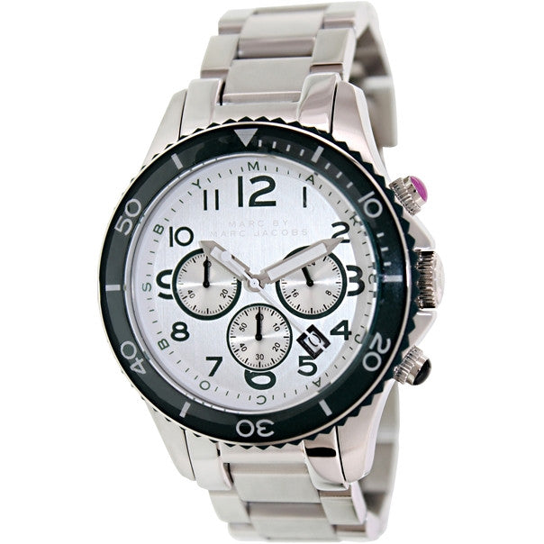Rock Stainless Steel Silver Dial Mens' Watch