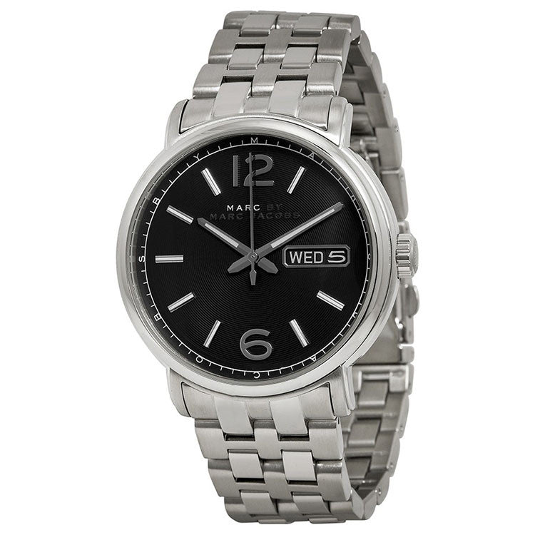 Marc By Marc Jacobs Fergus Black Dial Stainless Steel Men's Watch