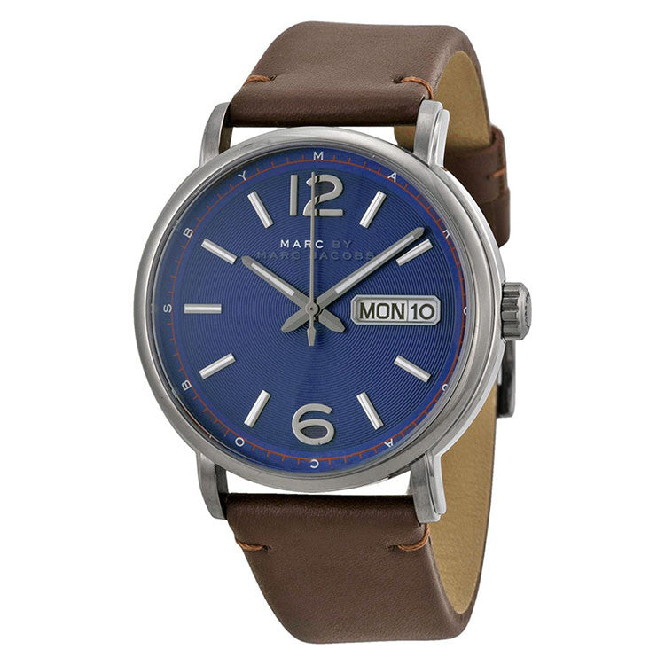 Fergus Blue Dial Brown Leather Men's Watch