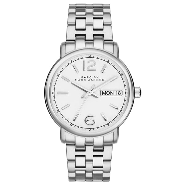 Fergus White Dial Stainless Steel Ladies Watch