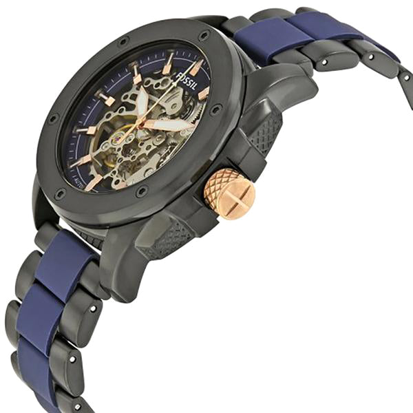 Modern Machine Automatic Skeleton Dial Men's Watch