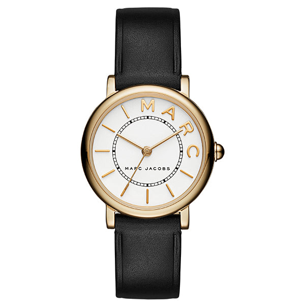 Roxy White Dial Ladies Black Leather Watch