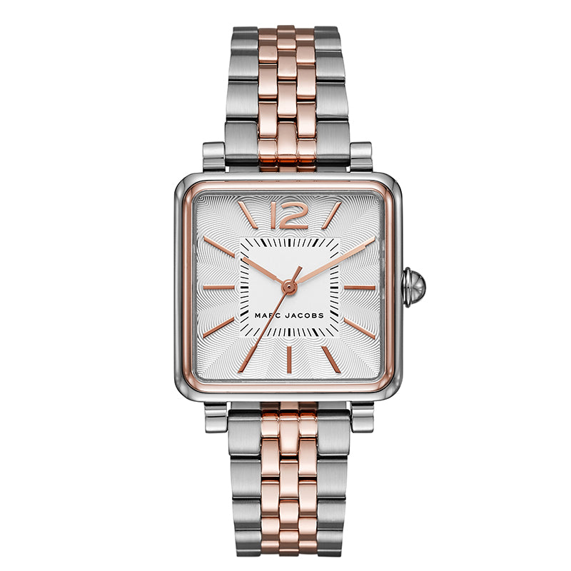 Vic Silver Dial Ladies Two Tone Watch
