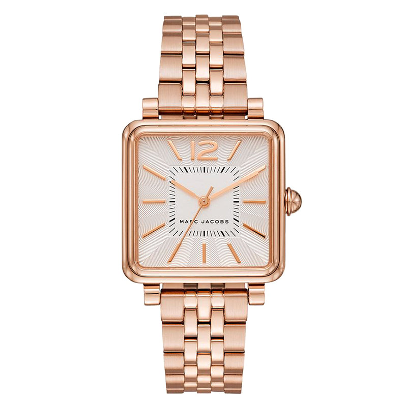Vic Silver Dial Rose Gold-Tone Stainless Steel Ladies Watch