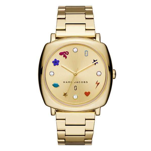 Mandy White Sunray Dial with Gold Tone Stainless Steel Bracelet Ladies Watch