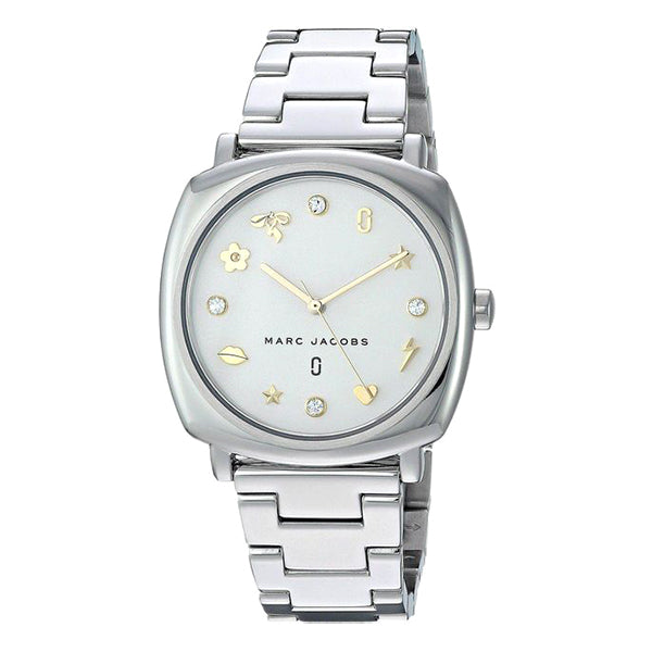 Mandy White Sunray Dial with Stainless Steel Bracelet Ladies Watch