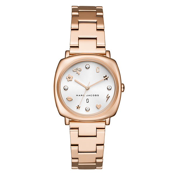 Mandy White Sunray Dial with Rose Gold Tone Stainless Steel Bracelet Ladies Watch