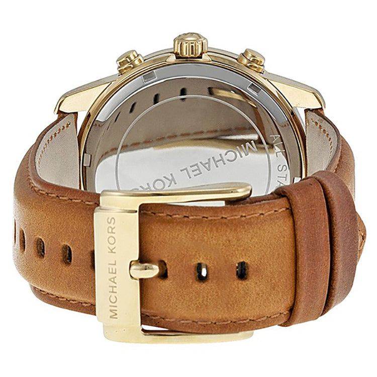 fe79b3d91ad Michael Kors MK2251 Champagne Dial Brown Leather Ladies Watch - 32 ...