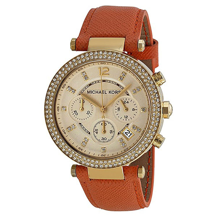 Parkers Chronograph Gold Dial Gold-tone Ladies Watch