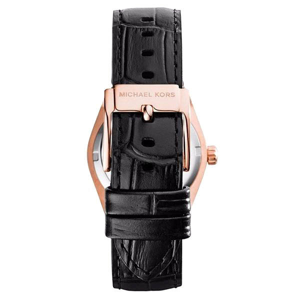 Channing Black Dial Rose Gold-tone Unisex Watch
