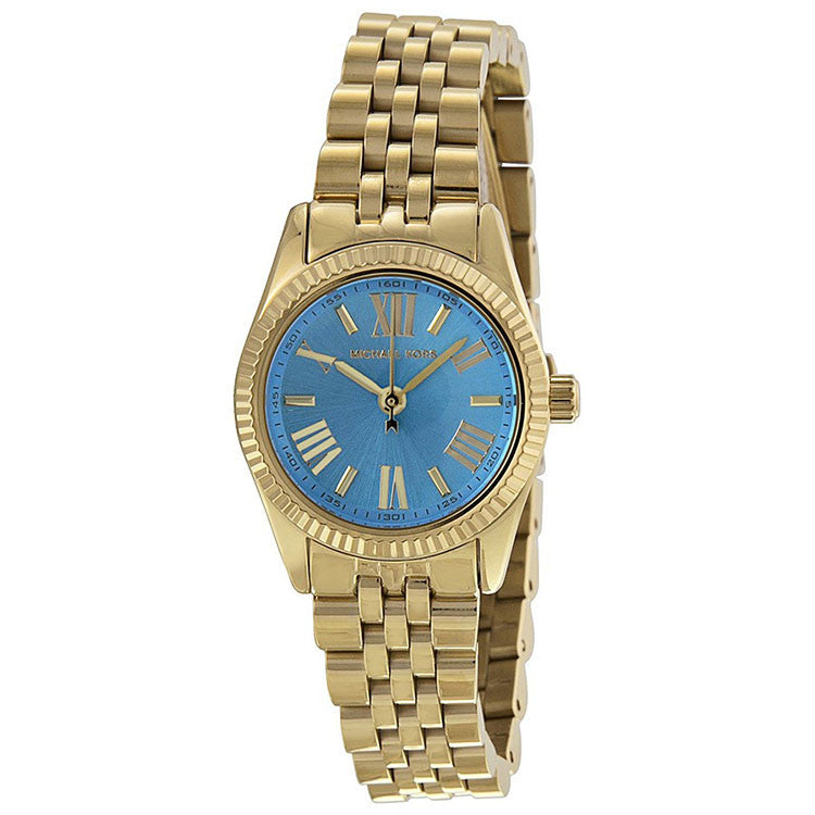 Lexington Ocean Blue Dial Gold-Tone Watch