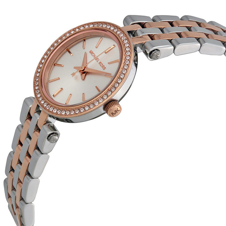 Petite Darci Silver Dial Two-tone Ladies Watch
