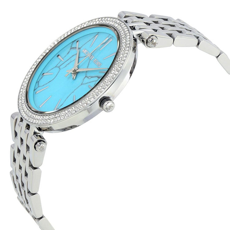 Darci Turquoise Dial Stainless Steel Ladies Watch