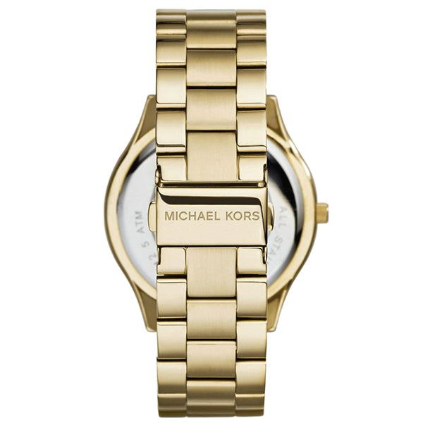 Slim Runway Quartz Rose Gold-tone Stainless Steel Ladies Watch