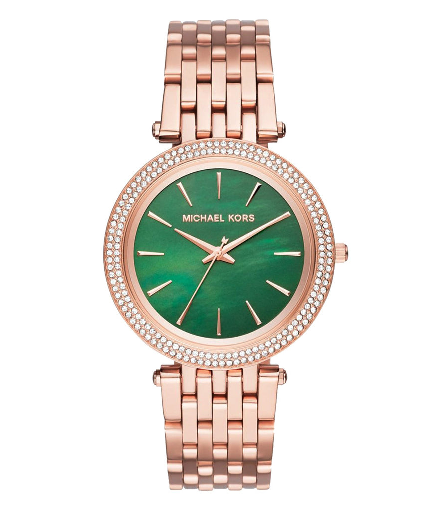 Darci Green Dial Ladies Rose Gold Tone Watch