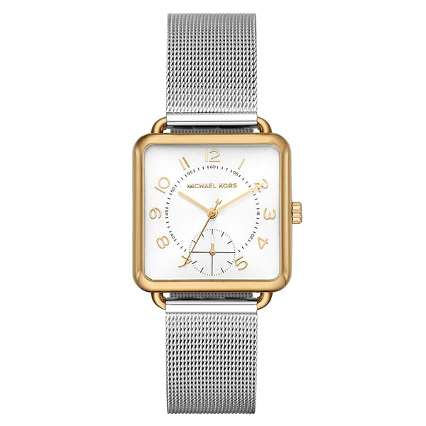 Brenner White Sunray Dial Stainless Steel Ladies Watch